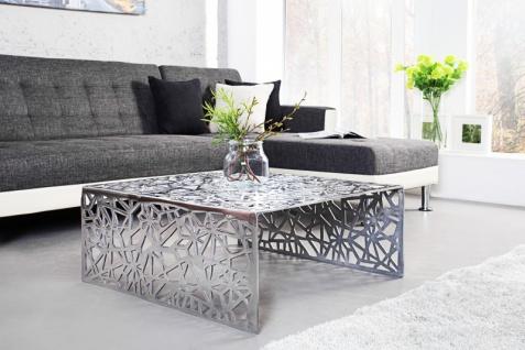 Casa Padrino Art Deco Couchtisch Silber Metall 75 x 35 cm- Jugendstil Tisch - Möbel Wohnzimmer - Vorschau 3