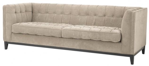 Casa Padrino Luxus Sofa Greige 230 x 81 x H. 78 cm - Luxus Kollektion