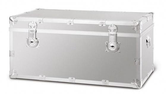 Casa Padrino Luxus Koffer Silber - Verschiedene Größen - Aluminium Koffer Truhe mit verstärkten Metallecken - Wasserdichter Reisekoffer - Luxus Qualität