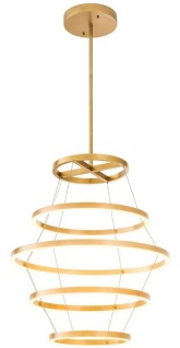 Casa Padrino Luxus LED Kronleuchter Antik Messingfarben Ø 80 x H. 80 cm - Moderner runder Kronleuchter - Luxus Kollektion
