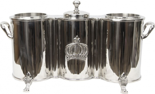 Harald Glööckler Luxus Doppel Weinkühler mit Eisfach Baroque Pompöös by Casa Padrino