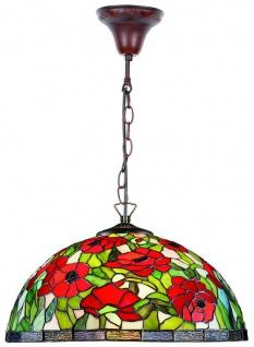 Casa Padrino Tiffany Hängeleuchte / Hängelampe Mehrfarbig Ø 40 x H. 85 cm - Tiffany Leuchten
