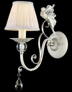 Casa Padrino Barock Figuren Kristall Wandleuchte Silber 14 x H 35 cm Antik Stil - Wandlampe Wand Beleuchtung
