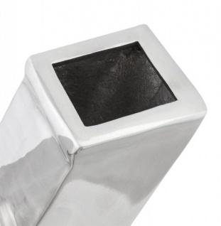 Casa Padrino Designer Vase X Aluminium Poliert - Vorschau 5