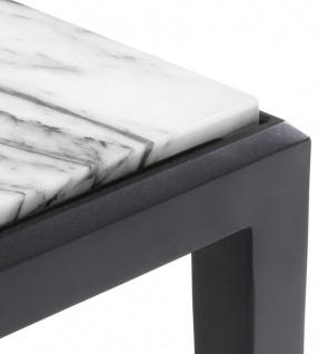 Casa Padrino Couchtisch in bronze mit weißer Marmorplatte 160 x 78 x H. 40 cm - Luxus Wohnzimmermöbel - Vorschau 3