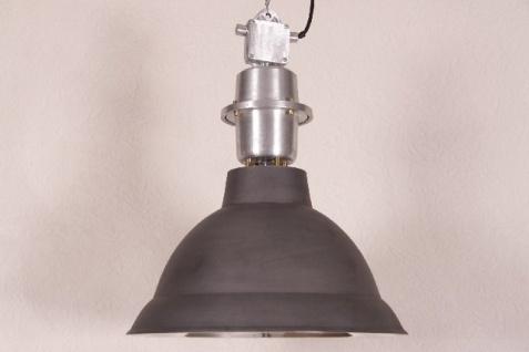 Casa Padrino Hängeleuchte Deckenleuchte Antik Stil Schwarz Matt Aluminium Industrial Vintage Design 47cm Durchmesser - Industrie Lampe Hänge Leuchte