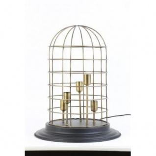 Casa Padrino Tischleuchte Schwarz 47 x H 60 cm - Leuchte - Tischleuchte - Vorschau 1