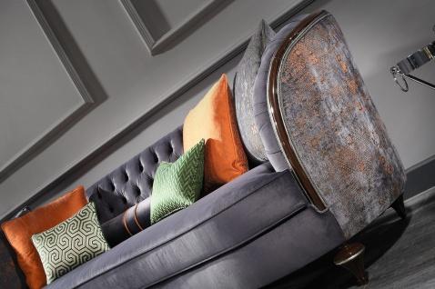 Casa Padrino Luxus Barock Sofa Lila / Braun / Silber - Handgefertigtes Wohnzimmer Sofa - Barock Wohnzimmer Möbel - Vorschau 4