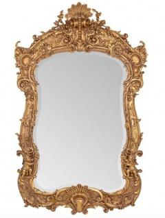 Prunkvoller Casa Padrino Barock Spiegel Gold 188 x 120 cm mit Engelsmotiven - Antik Stil - Schwere Ausführung