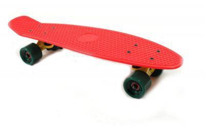 Koston / Paradise Oldschool Skateboard Plastic Cruiser 70s Style Rasta - 22 x 6.0 inch - Plastik Vinyl Skateboard