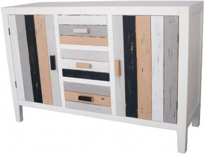 Casa Padrino Landhausstil Kommode mit 2 Türen und 3 Schubladen Mehrfarbig 120 x 40 x H. 80 cm - Shabby Chic Möbel