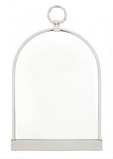 Casa Padrino Luxus Tisch Spiegel Schminkspiegel - Schminktisch Spiegel vernickelt Silber Farben 57 x 36 cm