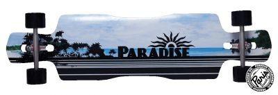 Paradise Black Ocean Drop Trough Complete Longboard mit Paris Achsen - Long Skateboard Komplett Komplettboard