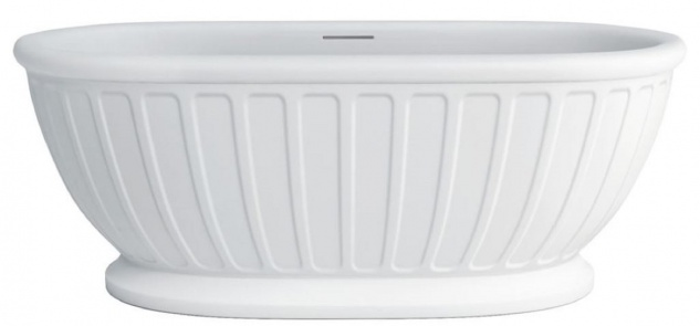 Casa Padrino Freistehende Luxus Jugendstil Badewanne Weiß 169 x 80 x H. 57 cm - Luxus Qualität