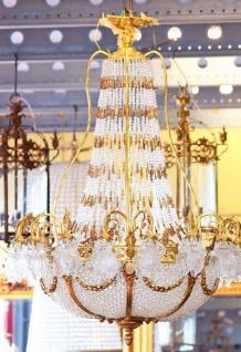Casa Padrino Luxus Barock Kronleuchter Messing / Gold Ø 110 x H. 140 cm - Prunkvoller Kronleuchter im Barockstil