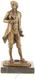 Casa Padrino Luxus Bronzefigur Mozart Bronze / Gold / Schwarz 10 x 7, 8 x H. 21, 1 cm - Bronze Skulptur mit Marmorsockel - Deko Accessoires - Vorschau