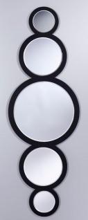 Casa Padrino Luxus Spiegel Schwarz 49 x H. 144 cm - Designer Wandspiegel