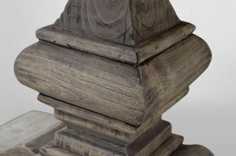 Casa Padrino Landhaus Couchtisch Eiche Rustic Grey 140 x 80 cm- Barock Stil Salon Wohnzimmer Tisch Eiche Massiv - Vorschau 5