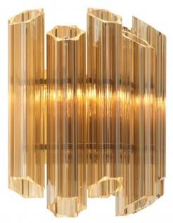 Casa Padrino Luxus Wohnzimmer Wandleuchte Gold 33 x 17 x H. 32, 5 cm - Luxus Kollektion