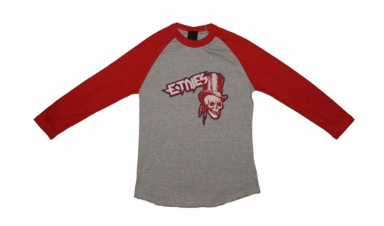 Etnies Skateboard Damen T-Shirt Journey Raglan Grey/Red