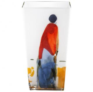 Handgearbeitete Opalglasvase mit einem Motiv von Oskar Koller, Höhe 50 cm - feinste Qualität aus der Tettau Porzellanfabrik - wunderschöne Vase