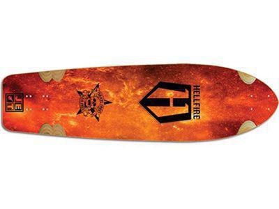Hellfire by Jet Wrath Inferno Longboard Deck 9.85 x 37.5 inch Cruiser Deck Skateboard
