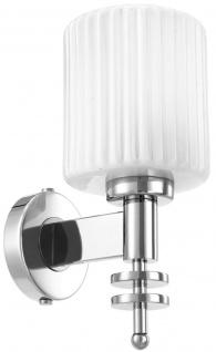 Casa Padrino Luxus Wandleuchte Silber / Vintage Weiß 13 x 18 x H. 28, 5 cm - Hotel & Restaurant Wandlampe mit Glas Lampenschirm