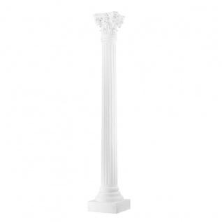 Casa Padrino Barock Luxus Säule Weiß 35, 5 x 35, 5 x H. 218 cm - Luxus Barockmöbel