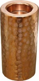 Designer Kerzenleuchter aus Aluminium, Kupferfarbig, H 26 cm - Edel & Prunkvoll