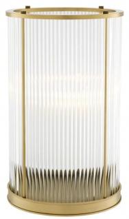 Casa Padrino Kerzenleuchter Antik Messing 23 x H. 37, 5 cm - Luxus Wohnzimmer Accessoires