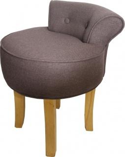 Casa Padrino Designer Hocker Boston Mittelbraun - Barock Schminktisch Stuhl - Vorschau 2