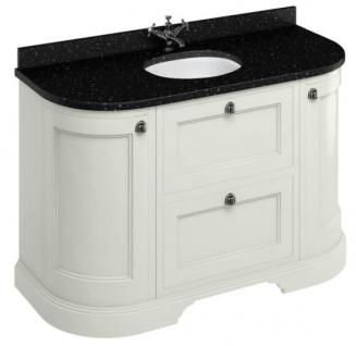 Casa Padrino Waschschrank / Waschtisch mit Granitplatte Türen und Schubladen - Limited Edition