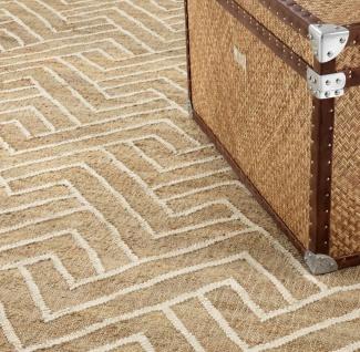 Casa Padrino Luxus Wohnzimmer Teppich Naturfarben / Weiß 300 x 400 cm - Luxus Kollektion