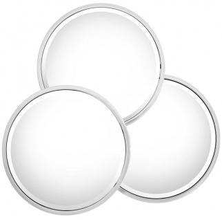 Casa Padrino Luxus Designer Edelstahl Spiegel / Wandspiegel Silber 95 x H. 90 cm - Designermöbel