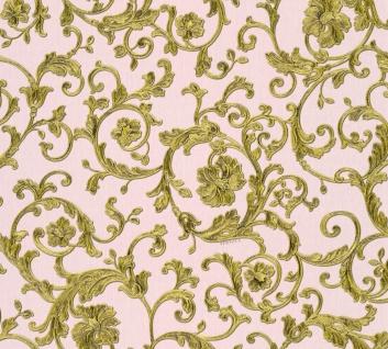 Versace Designer Barock Vliestapete Butterfly Barocco 343264 Rosa / Gold - Design Tapete - Luxus Tapete