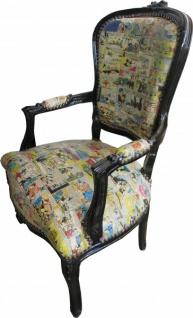 Casa Padrino Barock Salon Stuhl Comic Design / Schwarz - Möbel Antik Stil - Vorschau 2