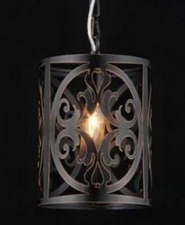 Casa Padrino Barock Decken Kronleuchter Braun 18 x H 27 cm Antik Stil - Möbel Lüster Leuchter Deckenleuchte Hängelampe