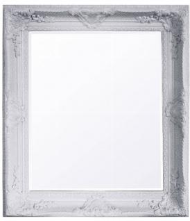 Casa Padrino Barock Wandspiegel Weiss Höhe 47 cm, Breite 37 cm - Antik - Handgefertigt
