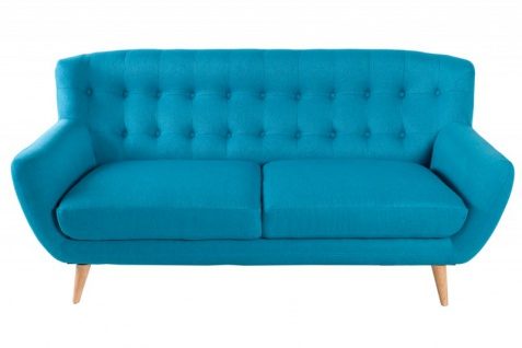 Chesterfield 3er Sofa blau aus dem Hause Casa Padrino - Wohnzimmer Möbel - Couch - Vorschau 4