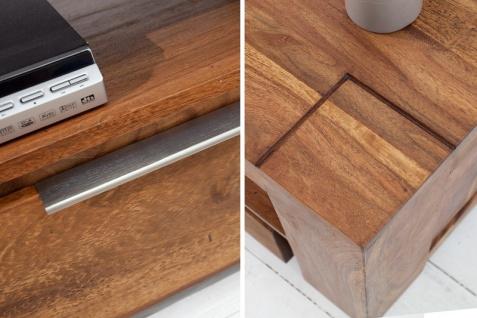 Casa Padrino Designer TV-Board B.135 x H.45 x T.45 - Fernsehschrank - Kommode - Sideboard - Handgefertigt aus Massivholz! - Vorschau 4