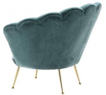 Casa Padrino Designer Wohnzimmer Sessel Dunkeltürkis / Messingfarben 96, 5 x 79 x H. 78 cm - Luxus Wohnzimmermöbel - Vorschau 2