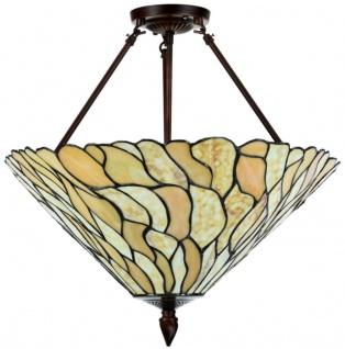 Casa Padrino Luxus Tiffany Deckenleuchte Mehrfarbig Ø 50 x H. 55 cm - Luxus Deckenlampe aus zahlreichen Glas Mosaik Stücken - Vorschau 2