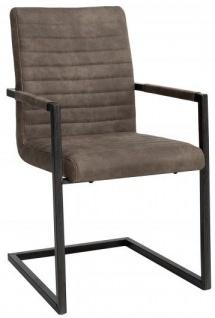 Casa Padrino Designer Freischwinger Stuhl Taupe Grau - Esszimmerstuhl - moderner Wohnzimmerstuhl