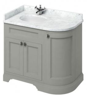 Casa Padrino Waschschrank / Waschtisch mit Marmorplatte und 3 Türen - Antik Stil Möbel