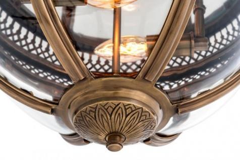 Casa Padrino Luxus Deckenleuchte Antik Messing Durchmesser 45 x H 30 cm Antik Stil - Möbel Lüster Deckenlampe - Vorschau 3
