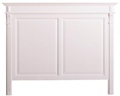 Casa Padrino Landhausstil Massivholz Bett-Kopfteil Weiß 160 x H. 126 cm - Schlafzimmermöbel im Landhausstil