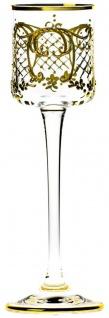 Casa Padrino Luxus Barock Likörglas 6er Set Gold Ø 6 x H. 17, 5 cm - Handgefertigte und handbemalte Likörgläser - Hotel & Restaurant Accessoires - Luxus Qualität - Vorschau 5