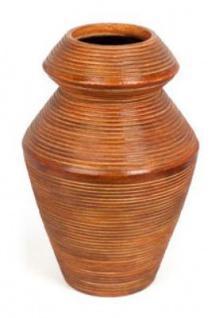 Casa Padrino Keramik Vase Hellbraun Ø 22 x H. 33 cm - Luxus Deko