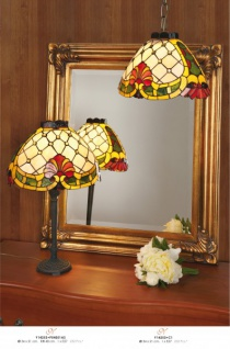 Tiffany Tischleuchte Durchmesser 34 X 21cm, Höhe 48cm Y14253 + P54051As Leuchte Lampe - Vorschau 2