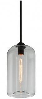 Casa Padrino Luxus Hängeleuchte Schwarz Ø 20, 3 x H. 40 cm - Pendelleuchte mit rundem Glas Lampenschirm